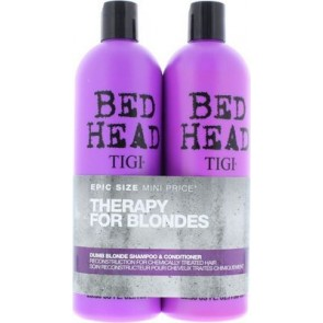 TIGI Bed Head Colour Combat Dumb Blonde Tweens 2x750ml Set